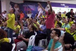 Bumangueses aplaudieron regreso al gol del 'Tigre' con la Selección Colombia ante España