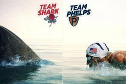 Un tiburón blanco venció en un duelo frente a frente a Michael Phelps