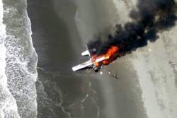 Video registró cómo Fuerza Aérea destruyó avioneta que violó espacio aéreo