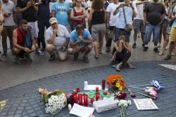 Revelan video que captó paso del automóvil usado en el atentado de Barcelona