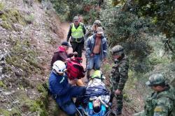 Divulgan imágenes del rescate de un minero que cayó al abismo