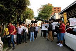 Comerciantes de Cabecera realizaron un plantón por instalación de cepos