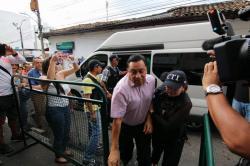 Video registró llegada del excalde de Bucaramanga para audiencia de legalización de captura