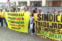 Trabajadores piden la salida del Gerente de la Empresa de Aseo de Bucaramanga