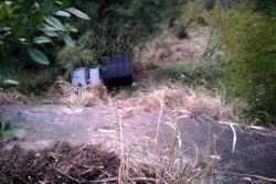 Camioneta rodó a un abismo en la calle 45 de Bucaramanga