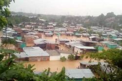 Inundaciones en barrio de Barrancabermeja generaron protestas de la comunidad