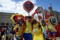 Los colombianos se tomaron la 'Plaza Roja' de Moscú