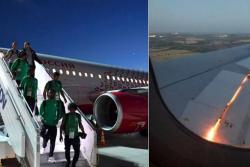 Se registro incendio en el avión en que viajaba la selección de Arabia Saudí