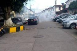 Polémica por detonación de gases lacrimógenos en barrio de Bucaramanga