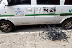 Fue arrastrado por un camión en Bucaramanga al quedar enredado en unos cables