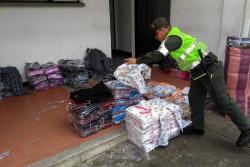 Incautan en Santander mercancía de contrabando avaluada en más de $439 millones