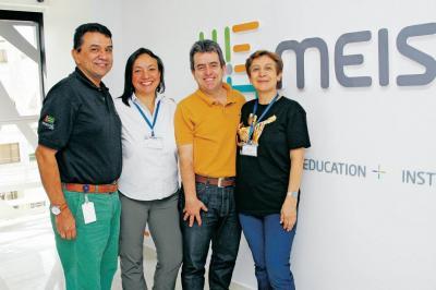 Jaime Santos, Piedad Sarmiento, Mauricio Fernández y Rosalba Pardo.