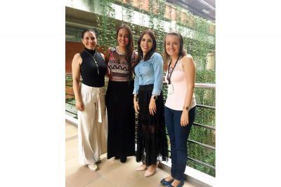 Lina María Angarita, Tatiana Bonilla, Olga Beatriz Rueda Barrios e Ivone Rodríguez.
