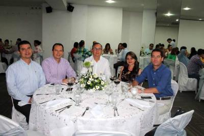 Javier Mariño, Leonel Céspedes, Giovanni Palma Cortés, Anyull Torres y Andrés Vanegas.
