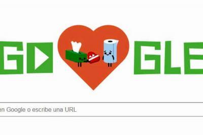 Google le rinde homenaje con sus 'doodles' al Día de San Valentín