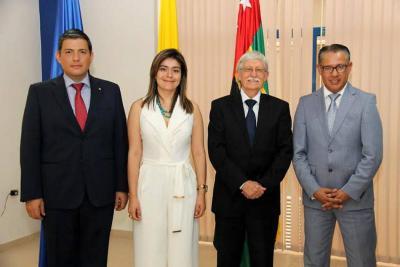 Carlos Chacón, Susan Benavides, Jaime Restrepo Cuartas y Eduardo Chilinquinga Mazón.