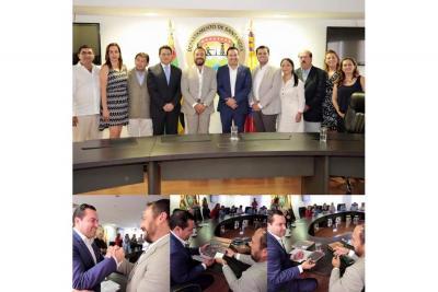 Con la presencia del gobernador Didier Tavera como garante, se firmó un convenio de voluntades entre Vélez y Fortín de la Flores (México).