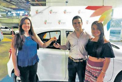 Digna Corzo, Sergio Andrés Camargo y Ángela Bahoquez.