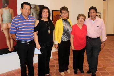 José Alejandro Centeno, Gloria Martha Pérez, María Lourdes Ríos, Cecilia Tello Rivero e Isaías Prada Rodríguez.