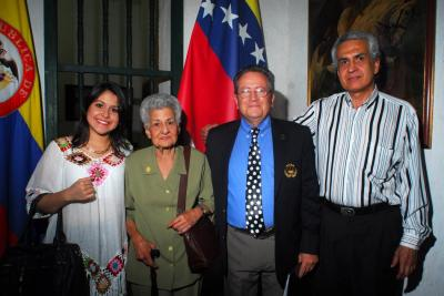 María Ordóñez, Isabel Mutis, José Suárez y Mario Ordóñez.