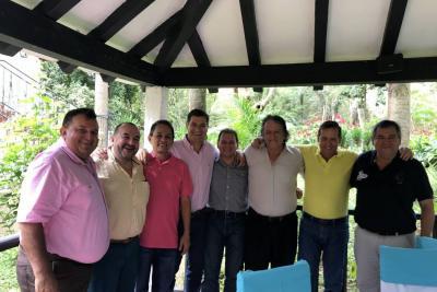 Luis Fernando Camargo, Clemente Sierra, Juan Carlos López, Sergio Puentes, Carlos Fernando Vargas, Orlando Quitián, Camilo Vanegas y Omar Blanco.