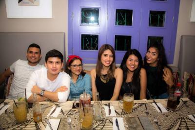 Andrés Santafé, Irayma Ramírez, Xiomara Barbosa, Evelin Barbosa y Paola Peña.