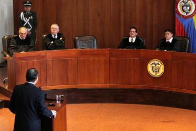 Ante la Sala Penal de la Corte Suprema de Justicia inició ayer el juicio en contra del exmagistrado de la Corte Constitucional Jorge Ignacio Pretelt Chaljub.