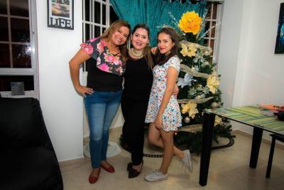 Leidy Carvajal, Melitón Jaimes e Irayma Ramírez.