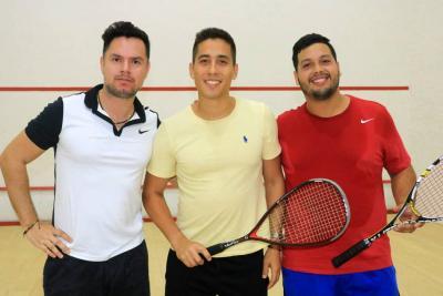 Fabián Córdoba, Diego Becerra y César Alzate.