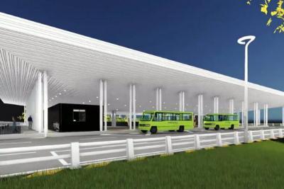 Portal de Metrolínea en Piedecuesta transportará a unos 50 mil usuarios diarios.