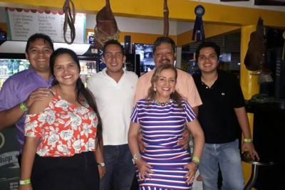 Miller Fabián Guzmán, Lucía Guzmán, Daniel Prada, Miller Guzmán, Olga Lucía Millán y Miller Ferney Guzmán.