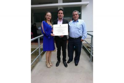 Clementina González Neira, Óscar Andrés Barón González y Óscar Flaminio Barón Pinzón.