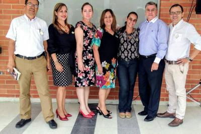 Fernando González, Mónica Alfonso, Gloria Mantilla, Yolanda Suescún, María del Pilar Gómez, Orlando Orduz y Fabio Landínez.