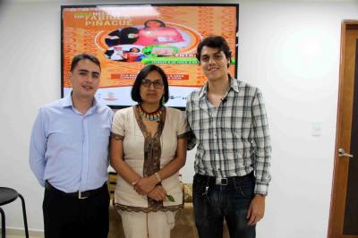 Javier Cote, Fabiola Piñacué y Juan Garnica.