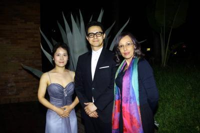 Kate lim, Raúl García y Angélica Díaz.