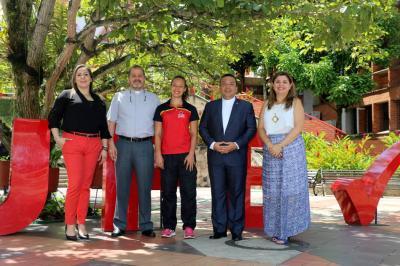 Victoria Helena Pérez Goelkel, Pbro. Enrique López Carrillo, Karen Lucía Fuentes García, Pbro. Gustavo Méndez Paredes y Ana Fernanda Uribe Rodríguez.