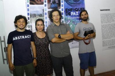 Daniel Rincón, Nathalia Ortíz Mantilla, Federico Ríos Escobar y Juan Sebastián Rincón.