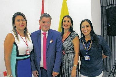 Andrea Santos Lizcano, Carlos Luis Ayala, Paola Vargas Porras y Deisy Garzón Mora.