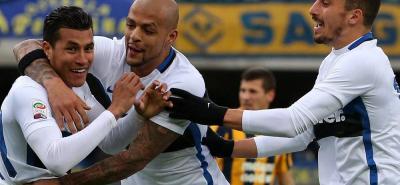Con gol de Murillo el Inter remonta y empata en el campo del Verona (3-3)