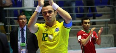 Falcao, el mejor jugador de futsal de todos los tiempos, disputó en Bucaramanga su último partido en los mundiales. El astro brasileño recibió el cariño de los santandereanos.