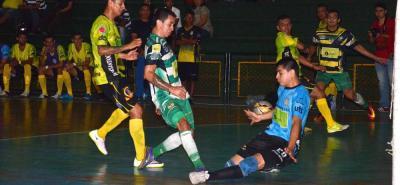 Un vibrante y emotivo partido protagonizaron los quintetos de Real Bucaramanga y Deportivo Meta en el cotejo de vuelta de los octavos de final de la Liga Argos de Fútbol Sala Fifa.