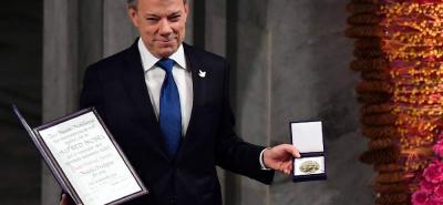 """Presidente Juan Manuel Santos recibió el Nobel de Paz: """"Lo imposible… puede ser posible"""""""