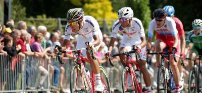 Los colombianos Daniel Felipe Martínez y Egan Bernal fueron protagonistas en la primera etapa del Tour de L'Avenir, al involucrarse en la fuga del día.
