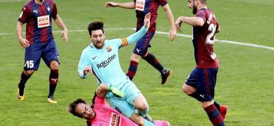 Con Mina ausente, Barcelona sufrió para vencer al Eibar