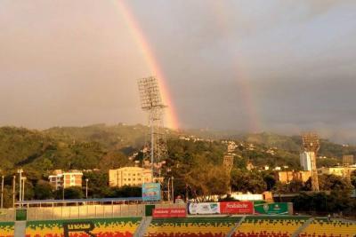 Un doble arcoíris 'pintó' el cielo de Bucaramanga
