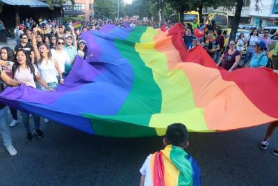 """Imágenes de la marcha del """"Orgullo Lgbt"""" en Bucaramanga"""