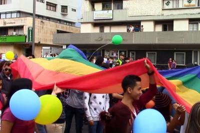 Comunidad Lgbt de Bucaramanga marchó para celebrar sus derechos