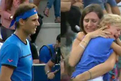 Rafael Nadal detuvo un partido para que una madre pueda encontrar a su hija
