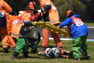 Impactante accidente en carrera de Moto3