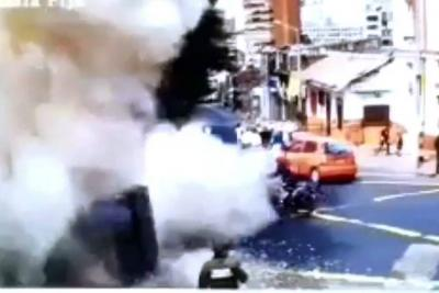 Video registró momento de explosión en Bogotá que deja un muerto y varios heridos